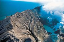 The steaming crater of White Island, Bay of Plenty